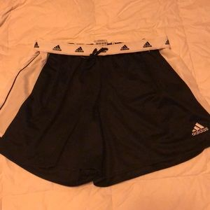Adidas fold down logo shorts